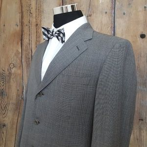 Canali Sport Coat Mens 42S Wool Gray 3 Button